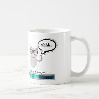 Shhh...Reading in progress Classic White Coffee Mug