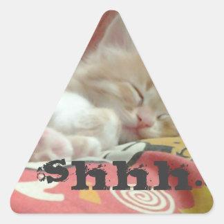 Shhh... Triangle Sticker