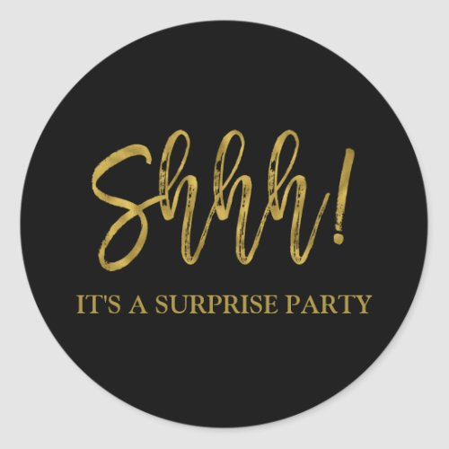 Shhh Surprise Birthday Party Birthday Classic Round Sticker