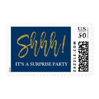 Shhh! Surprise Birthday Party Birthday Postage