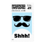 Shhh Surprise party postage stamp incognito face