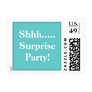 Shhh....Surprise Party Postage - Tiffany