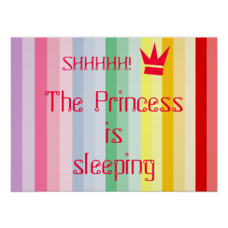SHHH! THE PRINCESS IS SLEEPING POSTER