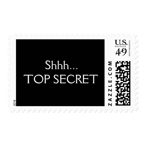 Shhh Top Secret Postage Stamps
