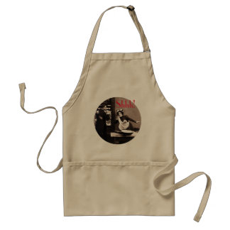 Shhh! What the Butler Saw - Vintage Comic Tryst Adult Apron