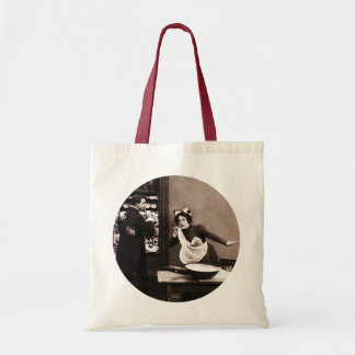 Shhh! What the Butler Saw - Vintage Comic Tryst Tote Bag