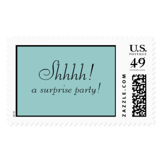 Shhhh! a surprise party! postage stamps