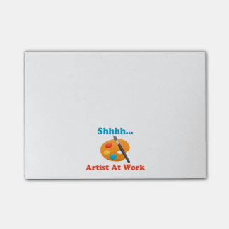 Shhhh Artist At Work Painter Post-it Notes