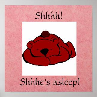 Shhhh! Asleep Poster