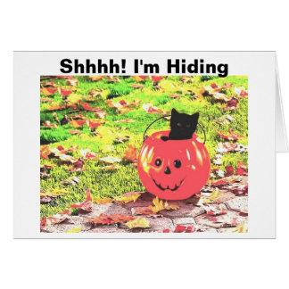 ¡Shhhh! Estoy ocultando Tarjeta De Felicitación