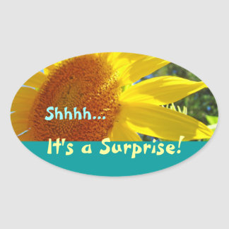 Shhhh... It's a Surprise! stickers Invitations