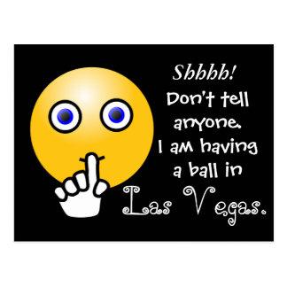Shhhh! Las Vegas --postcard Postcard