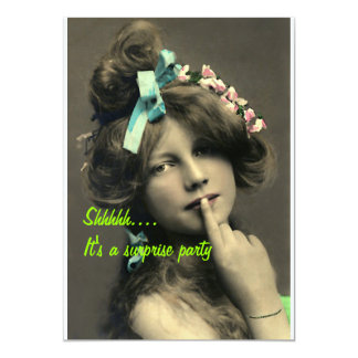 Shhhh Surprise Party Card