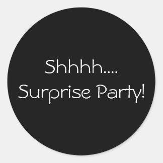 Shhhh...Surprise Party Sticker
