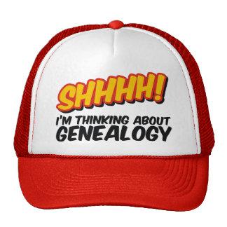 Shhhh! Thinking About Genealogy Trucker Hat