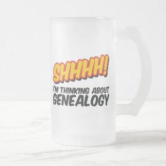 Shhhh! Thinking About Genealogy Mug