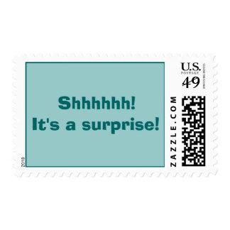 ¡Shhhhh! Es un sello de la sorpresa