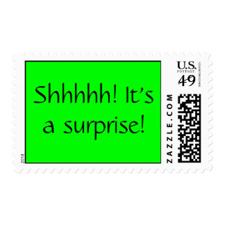 Shhhhh It s a surprise Stamp
