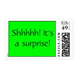 Shhhhh! It's a surprise! Postage