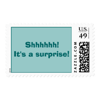 Shhhhh! It's a surprise postage stamp