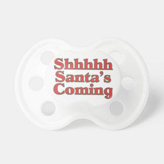 Shhhhh Santa's Coming Pacifier