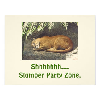 """Shhhhhhhhhh....Slumber Party Zone"" INVITATIONS"