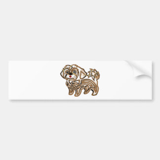 Shi-tzu Bumper Sticker