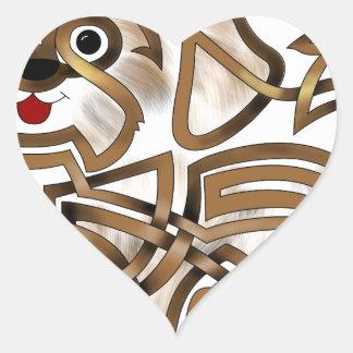 Shi-tzu Heart Sticker