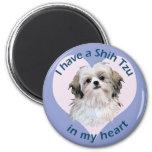 Shi Tzu in My heart 2 Inch Round Magnet