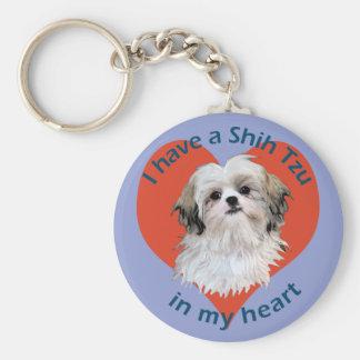 Shi Tzu in My heart Keychain
