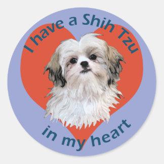 Shi Tzu in My heart Stickers