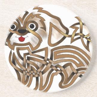 Shi-tzu Sandstone Coaster