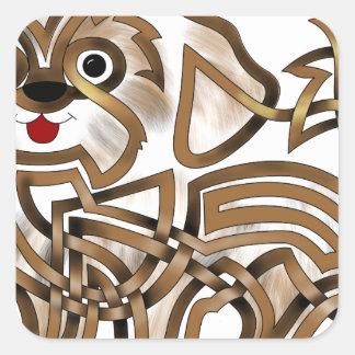 Shi-tzu Square Sticker