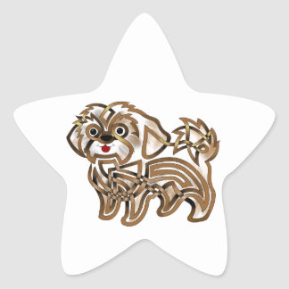 Shi-tzu Star Sticker