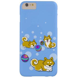 Shiba adorable Inu y bolas de Temari Funda Para iPhone 6 Plus Barely There
