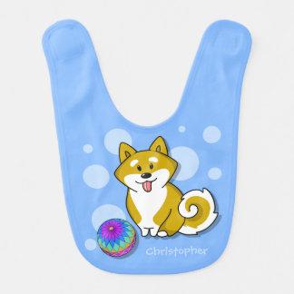 Shiba adorable modificado para requisitos babero de bebé