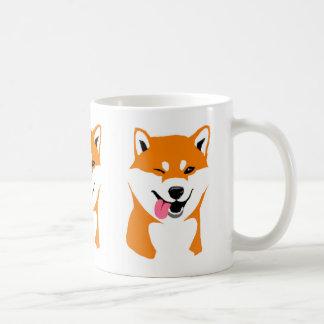 Shiba cup inu Wink Classic White Coffee Mug