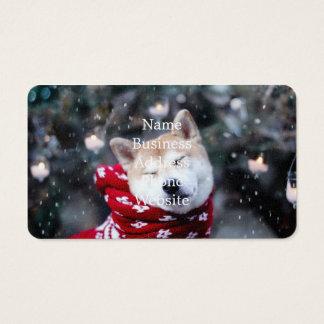Shiba dog - doge dog - merry christmas business card