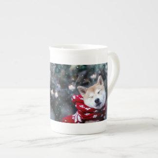 Shiba dog - doge dog - merry christmas tea cup