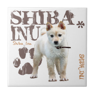 Shiba Inu Azulejo Cuadrado Pequeño