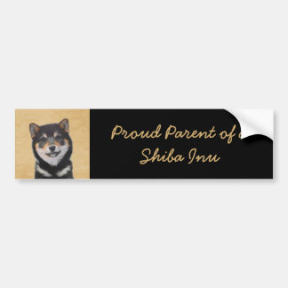 Shiba Inu (Black and Tan) Bumper Sticker