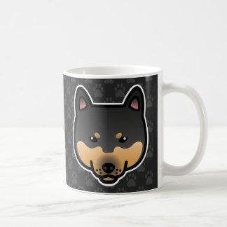 Shiba Inu Black And Tan Head Coffee Mug