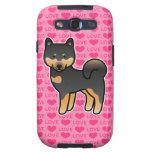 Shiba Inu Black And Tan Love Hearts Samsung Galaxy S3 Cases