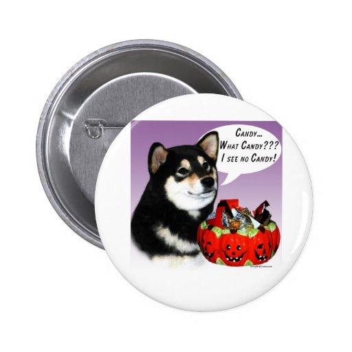 Shiba Inu (blk) Halloween Candy Button