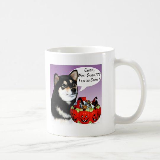 Shiba Inu (blk) Halloween Candy Coffee Mug