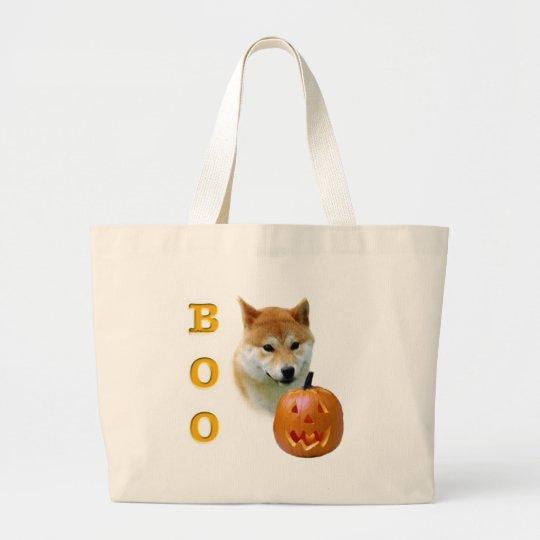 Shiba Inu Boo Large Tote Bag