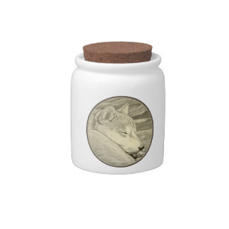 Shiba Inu Candy Jar Custom Dog Lover Cookie Jars