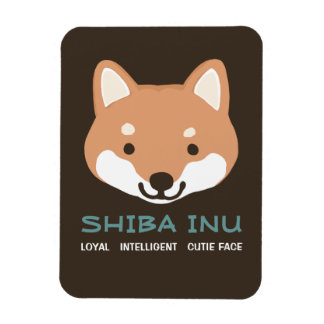 Shiba Inu Cartoon Dog with Custom Text Magnet