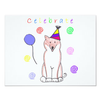 "Shiba Inu celebra Invitación 4.25"" X 5.5"""