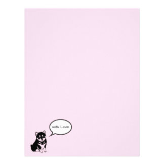 Shiba Inu Chinese Dog Year 2018 speech bubble L Letterhead